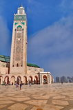 The Hassan II Mosque, located in Casablanca Royalty Free Stock Photo
