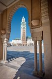 Hassan II Mosque minaret Casablanca Morocco Stock Photo