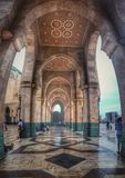 Hassan II mosque . Morocco , Casablanca. It is the largest mosque in Morocco and the 13th largest in the world Stock Photo