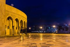 Hassan II Mosque. Next to the sea Stock Photo
