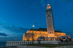 Hassan II Mosque. Next to the sea Royalty Free Stock Images