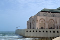 Hassan II mosque partially built on the sea. Stock Images