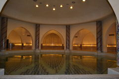 Hassan II mosque pool room in Casablanca Morocco. stock image