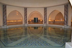 Hassan II mosque underground pool. stock photos