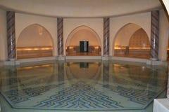 Hassan II mosque underground pool. Stock Photos