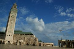 Hassan II w Casablanca Fotografia Royalty Free