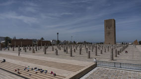 Hassan II wierza w Rabat, Maroko, obrazy royalty free