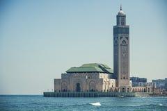Hassan Mosque i Casablanca Royaltyfri Fotografi