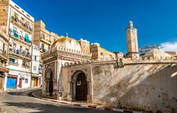 Hassan Pasha Mosque in Oran, Algeria. The Hassan Pasha Mosque in Oran - Algeria, North Africa stock photography