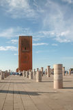 Hassan torn med pelare, Rabat arkivfoto