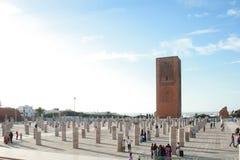 Hassan torn, Rabat royaltyfria foton
