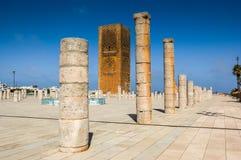 Hassan Tower em Rabat imagens de stock