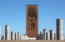 Hassan Tower i Rabat, Marocko Royaltyfri Bild