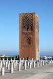 Hassan Tower i Rabat, Marocko Arkivfoton