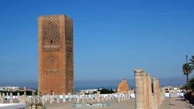 Hassan Tower i Rabat, Marocko Royaltyfria Foton
