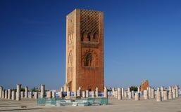 Hassan Tower i Rabat, Marocko Royaltyfria Bilder