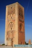 Hassan Tower i Rabat, Marocko Arkivbilder