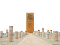 Hassan Tower at Mausoleum of Mohammed V in Rabat Royalty Free Stock Images