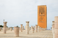 Hassan Tower at Mausoleum of Mohammed V in Rabat Royalty Free Stock Photos