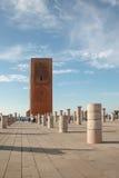 Hassan tower with pillars, Rabat Stock Photo