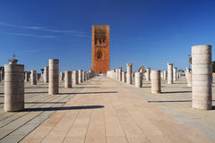 Hassan Tower a Rabat, Marocco fotografia stock