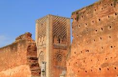 Hassan Tower Rabat Marocko Royaltyfria Foton