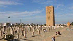 Hassan Tower in Rabat, Marokko stock footage