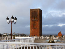 Hassan Tower in Rabat Stock Images