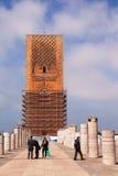 Hassan wierza i filary Rabat Niedokończony meczet fotografia stock