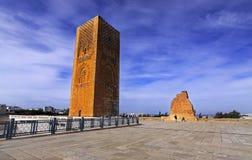 Hassan wierza meczet w Rabat Maroko obrazy stock