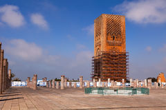 Hassan wierza, Rabat, Maroko zdjęcia royalty free