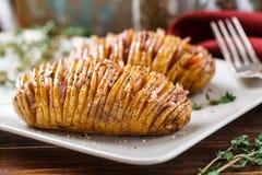 Hasselback potatisar Royaltyfria Foton