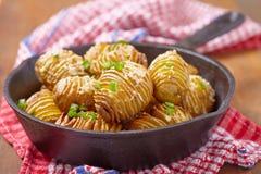 Hasselback potatoes Royalty Free Stock Photos