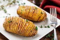 Hasselback potatoes Royalty Free Stock Image