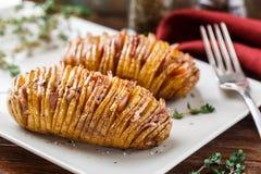 Hasselback potatoes Stock Photography