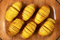 Hasselback potatoes Stock Photos