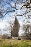 Hasselby城堡诗歌石头  库存照片