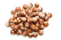 Hasselnötter för en handfull Royaltyfri Foto