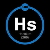 Hassium chemical element Royalty Free Stock Photos