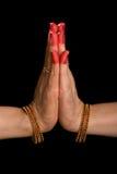 Hasta de Anjali de la danza india Bharata Natyam Imagen de archivo libre de regalías