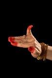 Hasta de Hamsapaksha de la danza india Bharata Natyam Fotografía de archivo