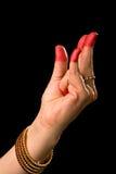Hasta de Kangula de la danza india Bharata Natyam Fotos de archivo libres de regalías