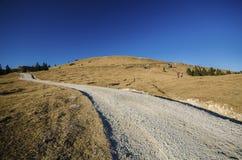 Hasta la colina Imagen de archivo libre de regalías