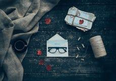 Hasta que finalice vieja letra del otoño Foto de archivo libre de regalías