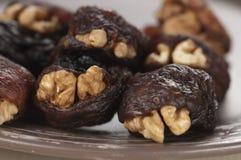 Hastak (dry dates with walnut) Royalty Free Stock Photography