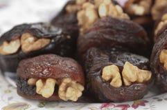 Hastak (dry dates with walnut) Stock Photo