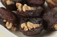Hastak (dry dates with walnut) Stock Image
