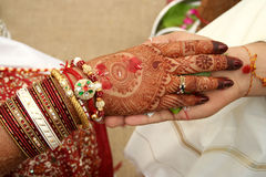 Hastamelap - An Indian Marriage Ritual Royalty Free Stock Images