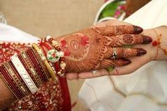 Hastamelap - un rituale indiano di unione Immagini Stock Libere da Diritti