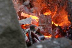 Haste de metal flamejante Fotografia de Stock Royalty Free